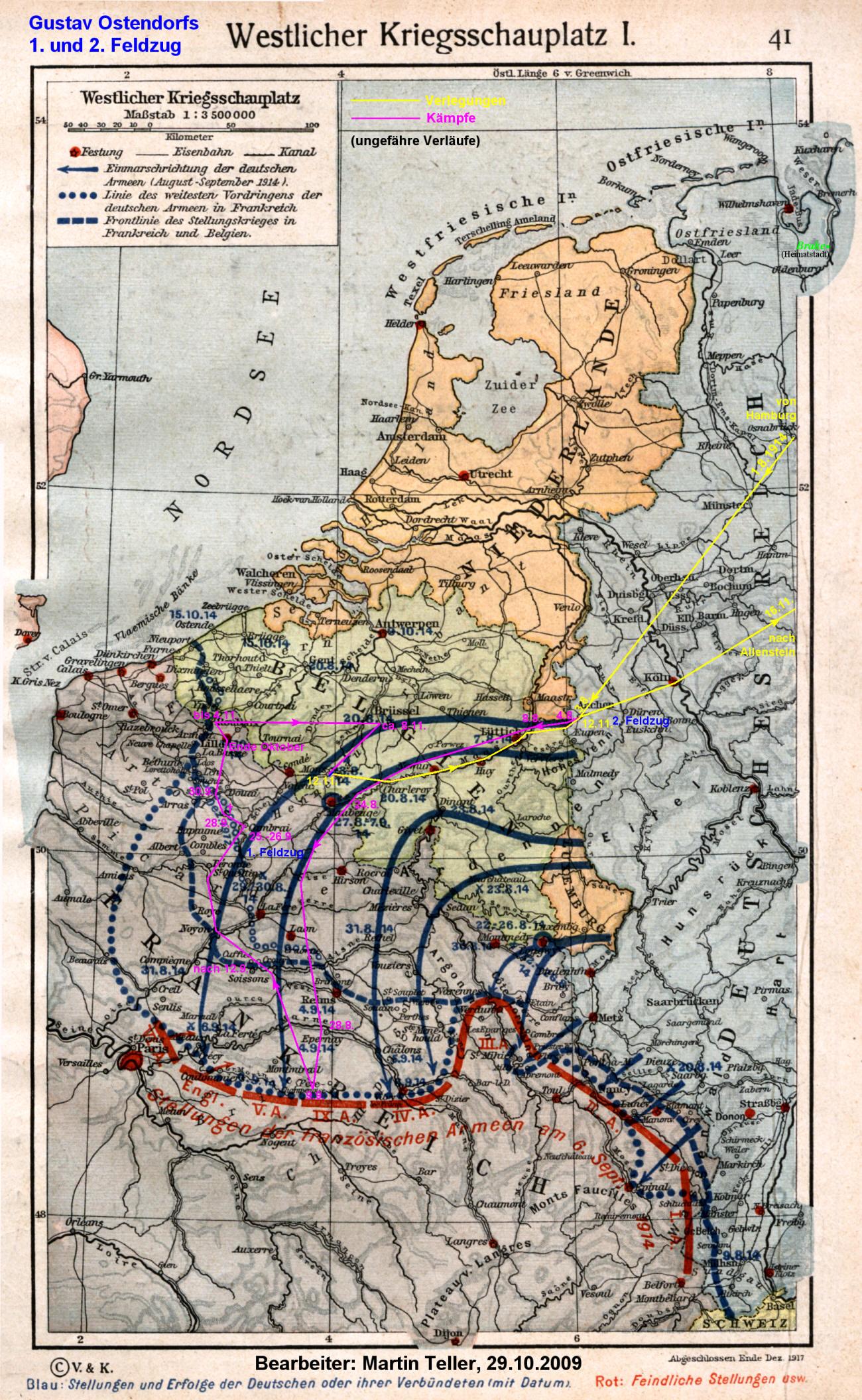 Westfront 1 Weltkrieg Karte.I Weltkrieg